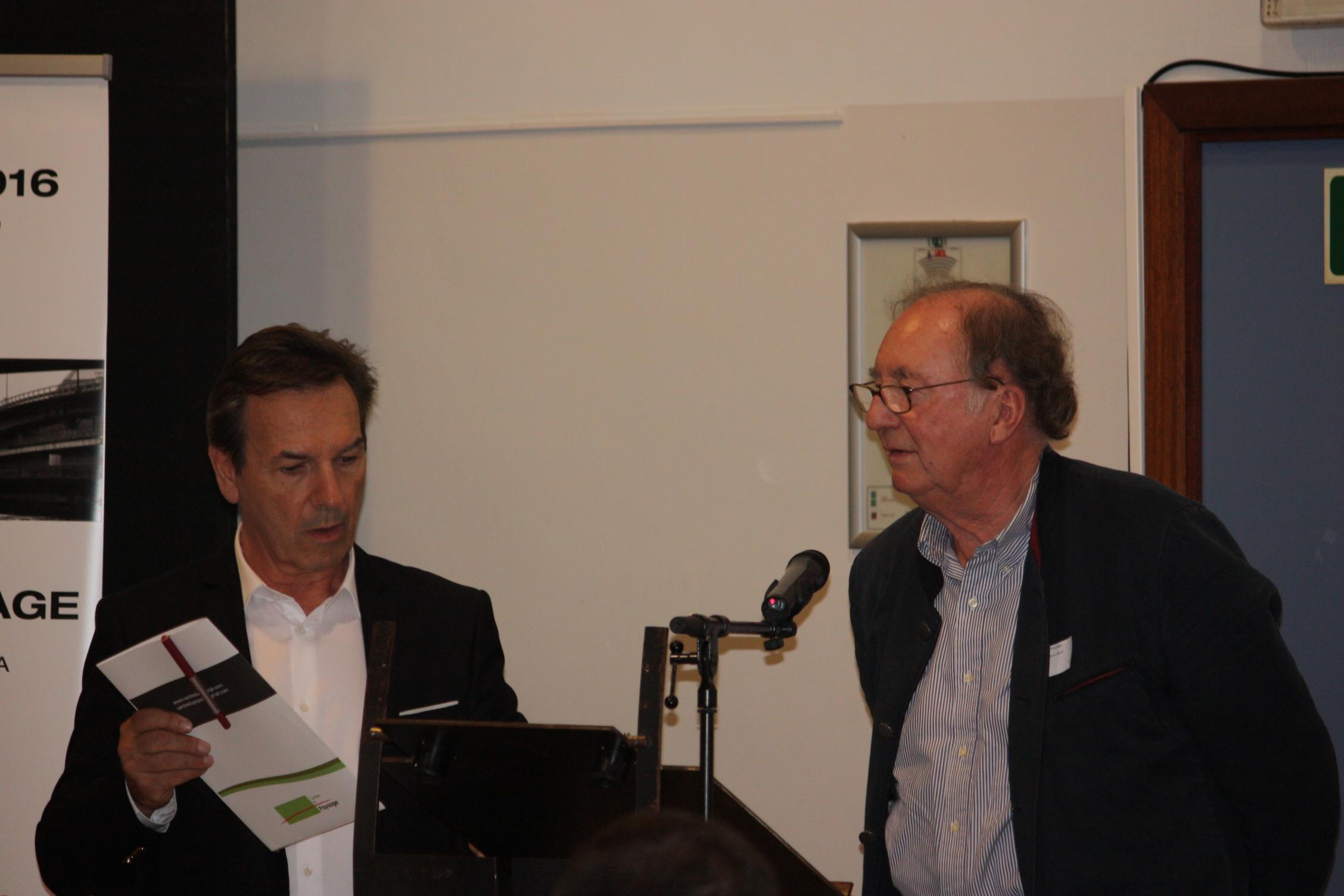 Philippe Ronnet (architecte paysagiste) & Jean Noël Capart (président de la journée