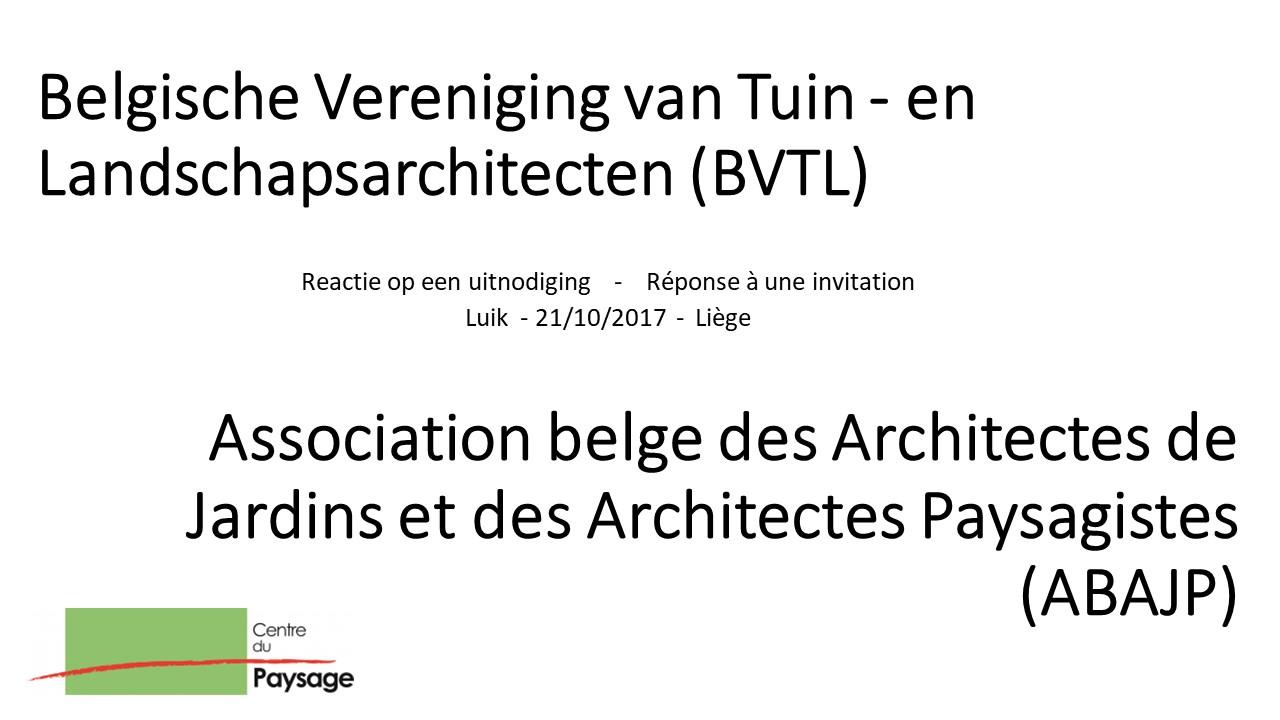 En-tête présentation du Centre du Paysage ASBL lors de l'AG de l'ABAJP-BVTL